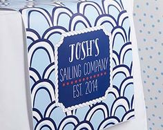 Personalized Table Runner - Kate's Nautical Birthday Collection (Multiple Sizes Available)