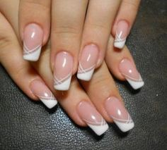 French Nails Nude Quadratisch Spitze Weis Dreieckig Lang Elegant Brautnagel Ring French Nails Nude Quadratisch Spitze Weis Dreieckig Lang Elegant Brautnagel Ring More from my site Rings and nude nails French Nails, French Manicure Nails, My Nails, Elegant Nails, Stylish Nails, French Nail Designs, Nail Art Designs, French Tip Design, Bride Nails