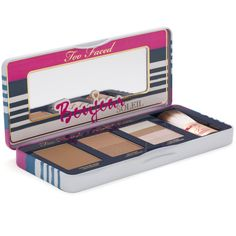 Say bonjour to a gorgeous, golden tan with this collection of Too Faced's bronzing best-sellers. This set contains the best selling matte, cocoa-powder infused Chocolate Soleil, the original Too Faced bronzer Sun Bunny and the luminous Snow Bunny bronzer.   This is the perfect trio to get your bronzing wardrobe started. Complete your golden glow on-the-go with the included Cruelty Free Teddy Bear Hair Bonjour Bronzer Flatbuki brush and built in mirror.   • Chocolate Soleil: infused with ...