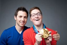 Brother Frederic, Who Has Cerebral Palsy, Wears His Younter Brother's Gold Medal Won in the 2010 Vancouver Winter Olympics