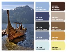 Norwegian Viking Boat Inspiration for exterior home color palette and landscaping Chip It! by Sherwin-Williams – Home