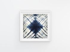 An Indigo Shibori Printable Art #instantdownload #print #digitalfile #printableart #walldecor #ikeasize #modern #blueandwhite #abstract #livingroom #artandcollectibles #shibori #diamond