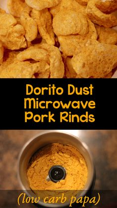 Keto Doritos Microwave Pork Rinds - Your pork rinds need spicy, cheesy goodness reminiscent of Doritos chips. They're keto snacking perfection. Low Carb Keto, Low Carb Recipes, Ww Recipes, Free Recipes, Keto Snacks, Snack Recipes, Keto Foods, Keto Meal, Keto Pork Rinds