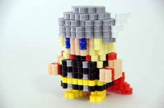Marvel hero Thor Perler Beads figure by ToroKuro on Etsy, $20.00