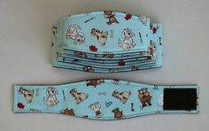 XS Long Cute Dogs Belly Band for male dogs by BellyBandsbyTrina, $10.00