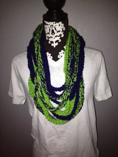 Seattle Seahawks Blue and Green Scarf