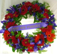 ANZAC day wreath Poppy Wreath, Floral Wreath, Flower Wreaths, Cemetery Decorations, Armistice Day, Remembrance Sunday, Floral Arrangements, Flower Arrangement, Anzac Day