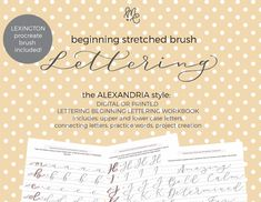 The Lettering Academy – mirabellecreations Hand Lettering Quotes, Brush Lettering, Calligraphy Pens, Gel Pens, Lower Case Letters, Alexandria, Worksheets, Digital, Words
