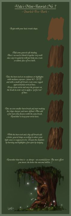 Mini-Tutorial No.7 - Gnarled Tree Bark - by ValaSedai on deviantART
