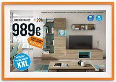 Mueble para salón KRAUSS. Oferta válida hasta 31/05/2015. Financiación y montaje incluido, solo en tienda física.