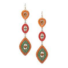 Bright ear-candy earrings.