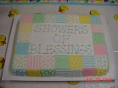Baby Shower Sheet Cakes for Girls - Bing Images   Cards ... : baby quilt cake - Adamdwight.com