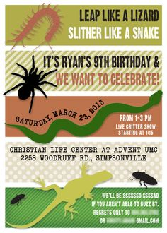 Critter Party Invitation #1
