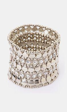 Silver & Crystal Stretch Bracelet
