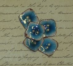 Enameled Copper Button  5 by sewsew25 on Etsy, $18.00
