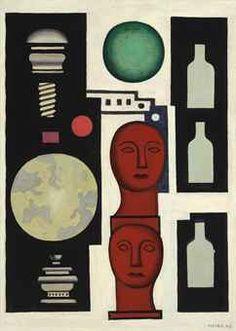 Fernand Leger (1881-1955)  Nature morte aux bustes  (Christie's)