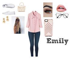 """Emily"" by allicat2246 ❤ liked on Polyvore featuring J Brand, Vans, ZAC Zac Posen, Oscar de la Renta and Rebecca Minkoff"