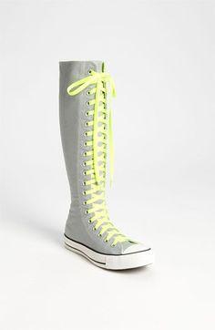 Mirage grey and green XX-HI Converse Knee High Converse, Knee High Sneakers, Sock Shoes, Cute Shoes, Me Too Shoes, Outfits With Converse, Converse Shoes, Custom Converse, Shoes Sneakers