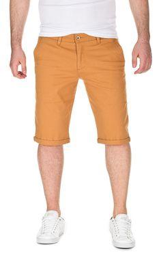6c1a46fff0bb Mens Summer Chino Shorts Alex Slim Fit - Mustard Gold (82295) - C312FM1H67X