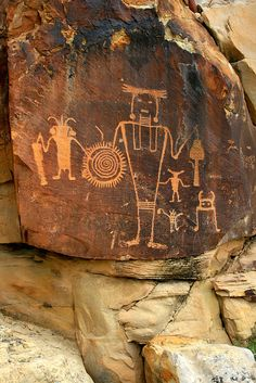 McKee Rock Art, probably the most famous figure in Dinosaur National Monument.