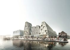 COBE has unveiled its masterplan for Christiansholm, an artificial island in Copenhagen harbour formerly occupied by the Danish press