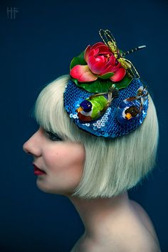Duck Pond and Lily Pad Fascinator by ggspinupcouture on Etsy, $70.00