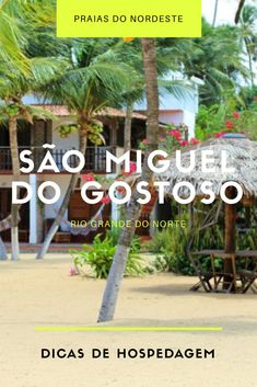 Dicas de onde se hospedar em #SãoMigueldo ostoso (#RioGrandedoNorte) na Praia da Xêpa, onde está o maior movimento da cidade e a maior concentração de bares e restaurantes.