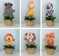 Set of 6 Safari Animals Foam Decorations for a Baby Shower, 3 different sizes, great jungle themed centerpieces Safari Theme Centerpieces, Jungle Decorations, Baby Shower Decorations For Boys, Baby Shower Centerpieces, Baby Shower Themes, Baby Boy Shower, Shower Ideas, Safari Theme Birthday, Jungle Theme Parties