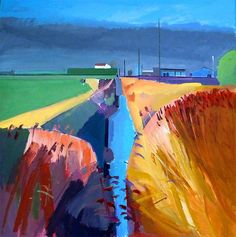 Fred Ingrams「Ditch next to Sedge Fen Road - winter sunshine rain coming」(2014)