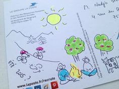 [Edhec 2015] 28 avril - Sur une carte postale, on écrit... ou on dessine. C'est au choix ! © photo DRHRS, La Poste, DR.