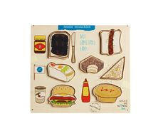 This iconic chunky puzzle is great to teach your little ones the icons of Australian food. Maybe it's Vegemite on toast or a snag on bread, these are our unsung icons of Australian cuisine! Australian Nursery, Australian Food, Little People, Little Ones, Dinosaur Puzzles, Childrens Shop, Fairy Bread, Nursery Themes, Nursery Ideas