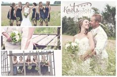 Beautiful couple, cowboy boots, country chic. SWOON! - Knots to Tots Photography
