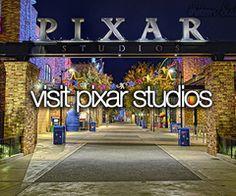 Bucket list- visit pixar studios