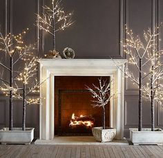 Lighted twig trees....so pretty