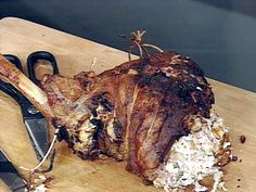 Leg of Lamb Stuffed with Goat Cheese, Pine Nuts, Apples and Mint from FoodNetwork.com This is my go to Easter Recipe I've made it for years then the kids didn't want Lamb 2013 sees the return of this delicious dinner