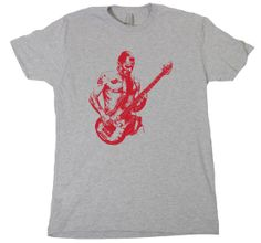 FLEA T-SHIRT retro vintage bass guitar red hot chili peppers tee small  medium large 9dfaba1869