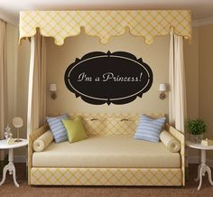 I love this Valance design and the bed is just dreamy. Great for a simple girly girl.