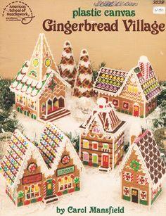 Plastic Canvas Gingerbread Village 00