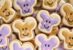 How to Make PB&J Cookies with a Dog Bone Cookie Cutter via Sweetsugarbelle.com