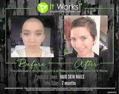 2 months on itworks hsn, works so quick, you need to try it #hair #skin #nail www.13ashley.myitworks.com