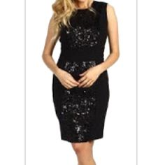 Black Sequin Dress Black sequin dress by Calvin Klein Calvin Klein Dresses Prom