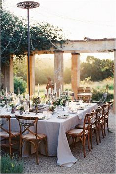 Outdoor rustic wedding reception. Romantic, small, simple, beautiful