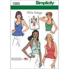 Simplicity Pattern 1365H5 6-8-10-12--Misses Tops Vests