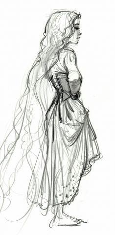 Rapunzel concept art glen keane. I wouid love this for a little girls bedroom