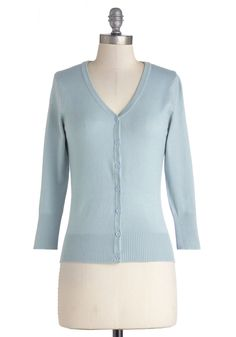Charter School Cardigan in Baby Blue, #ModCloth