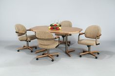 Rolling Dining Chairs | Chairs Design Ideas