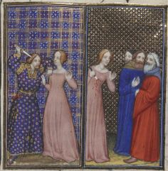 Plain Dress, Bnf, Medieval Art, Historical Costume, 15th Century, Illuminated Manuscript, Historian, Fashion History, Middle Ages