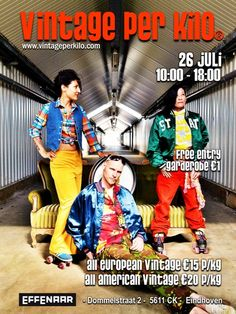 The 26th of July 2015, @Vintageperkilo will be at 'Effenaar' in Eindhoven. 1 day, 2 studio's. More info at vintageperkilo.com