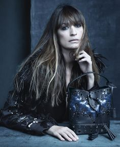 Marc Jacobs' Muse Caroline de Maigret in the Louis Vuitton Spring/Summer 2014 Fashion Campaign, shot by Steven Meisel.
