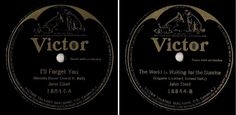 "Steel, John / I'll Forget You (1922) / Victor 18844 (Single, 10""), $6.00"